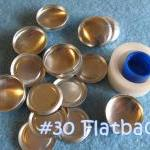 Covered Button Kit FLAT BAC..