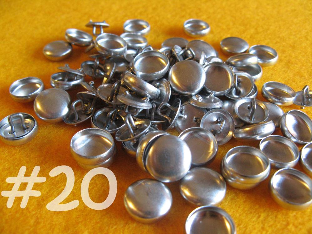 Sale - 200 Covered Buttons - 1/2 inch - Size 20