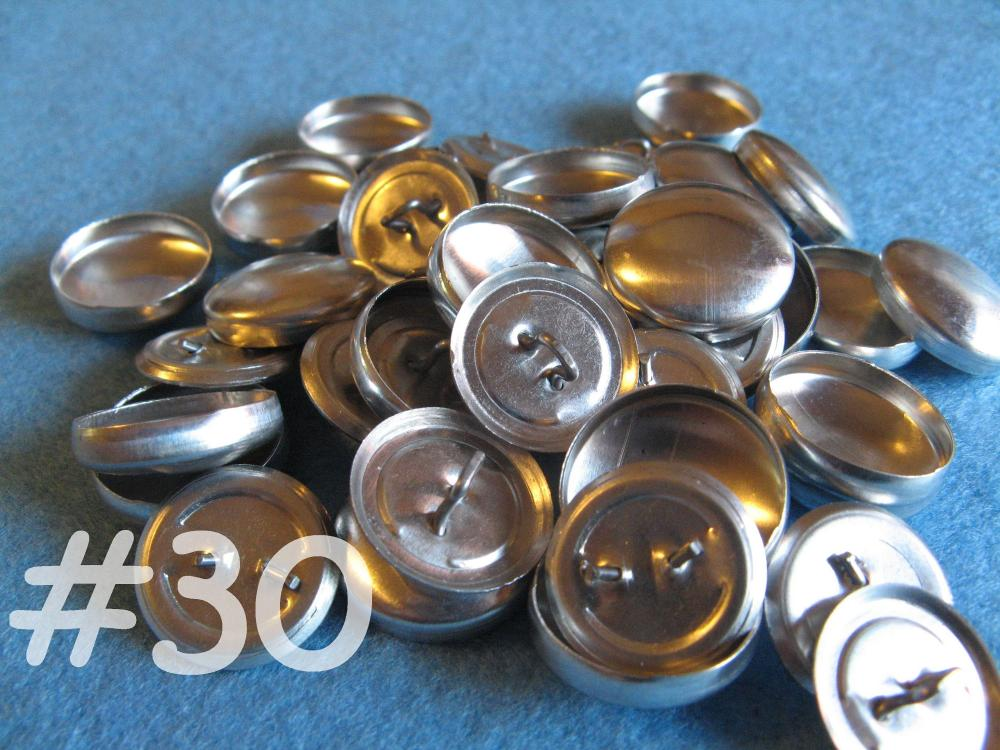 50 Covered Buttons - 3/4 inch - Size 30