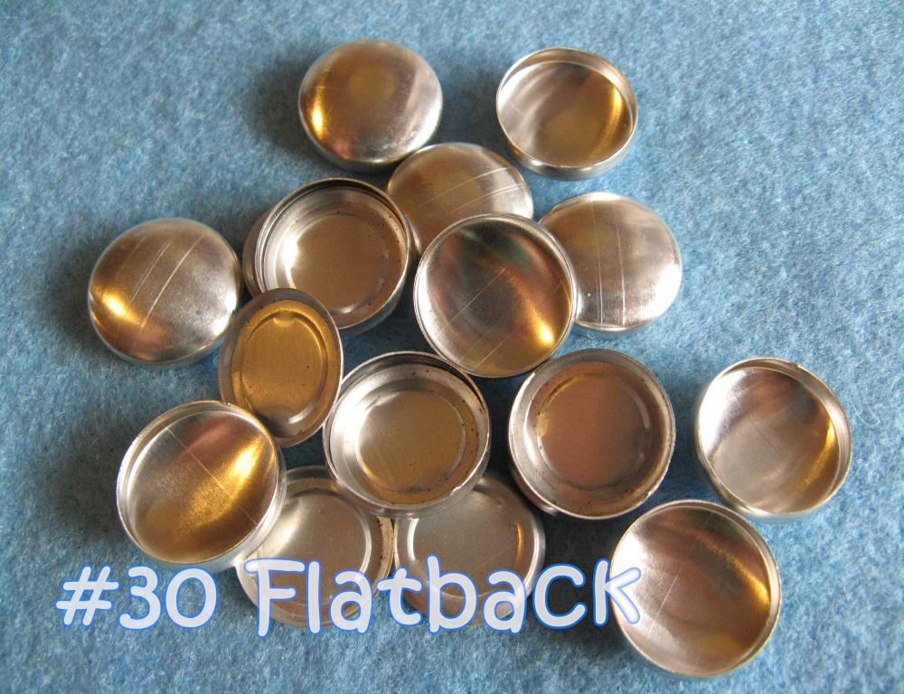 25 Covered Buttons FLAT BACKS - 3/4 inch - Size 30