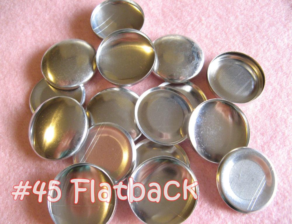 12 Covered Buttons FLAT BACKS- 1 1/8 inches - Size 45