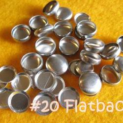 25 Covered Buttons FLAT BACKS - 1/2 inch - Size 20