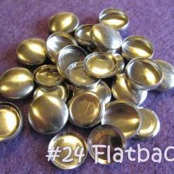 50 Covered Buttons FLAT BACKS- 5/8 inch - Size 24