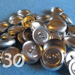 25 Covered Buttons - 3/4 inch - Size 30