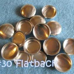 50 Covered Buttons FLAT BACKS - 3/4 inch - Size 30