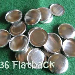 25 Covered Buttons FLAT BACKS - 7/8 inch - Size 36