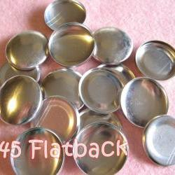 SALE - 100 Covered Buttons FLAT BACKS - 1 1/8 inches - Size 45