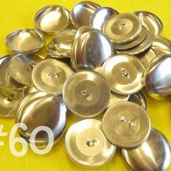 12 Covered Buttons - 1 1/2 inches - Size 60