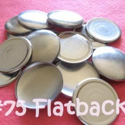 25 Covered Buttons FLAT BACK - 1 7/8 inches - Size 75