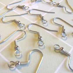 Sale - 48pcs Surgical Stainless Steel French Hook Earwires with Backs
