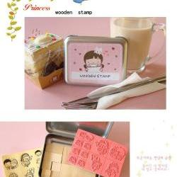 Korean DIY Wooden Stamp Set - Pink