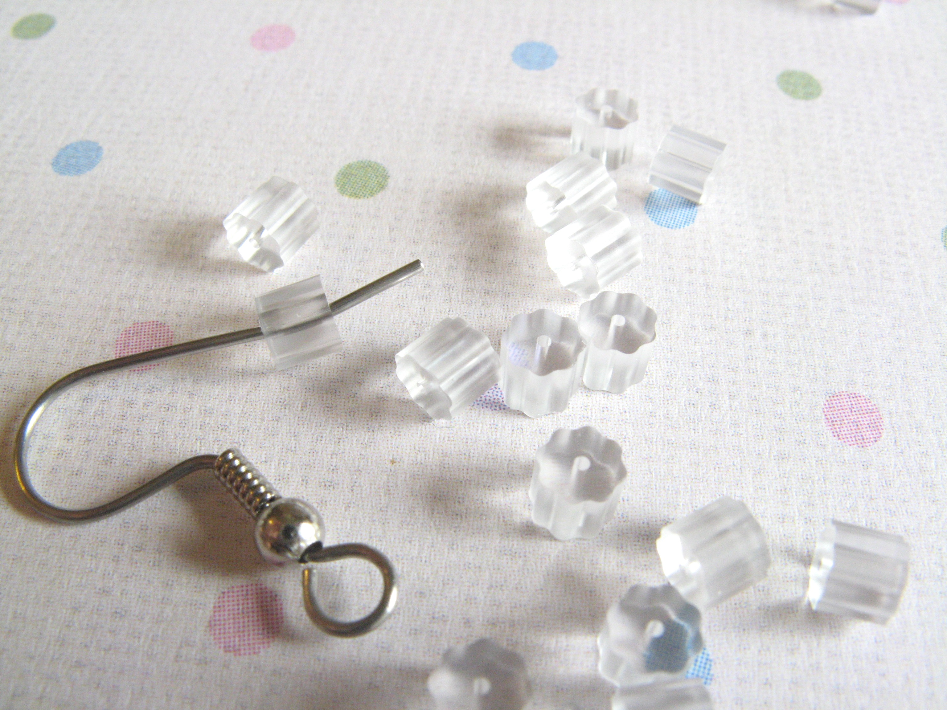 100 Clear Plastic Rubber French Hook Earring Backs On Luulla